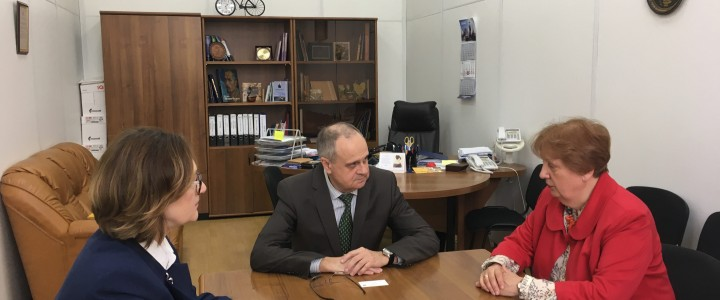 Rector of Slavonic University of the Republic of Moldova visited MSPU