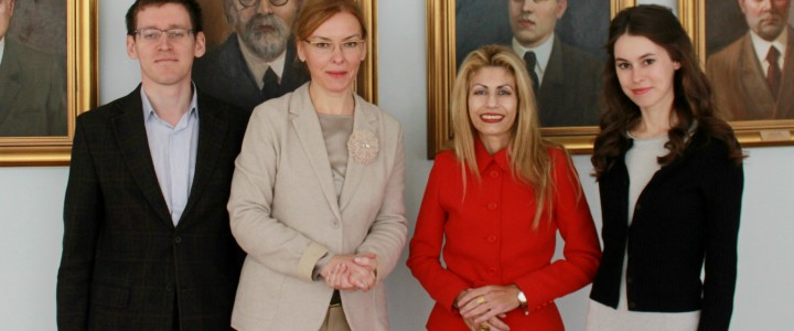 The meeting with director of Hellenic cultural centre in Moscow at MSPU