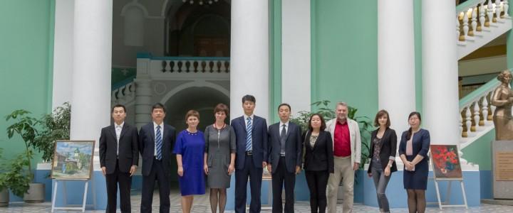 The delegation of Jiangsu Normal University (China) at MSPU