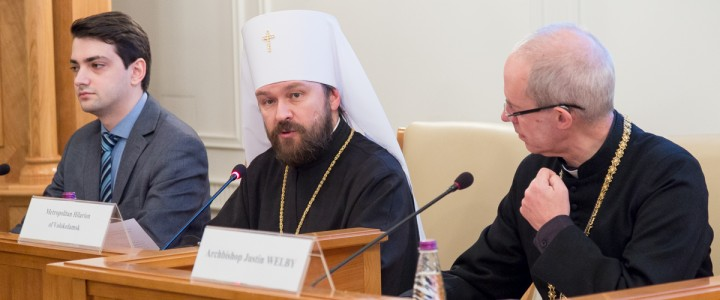 MSPU representatives visited a meeting between Metropolitan Hilarion of Volokolamsk and Justin Welby, Archbishop of Canterbury