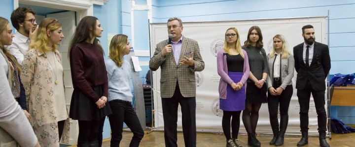 Meeting of Rector A. Lubkov with the students of «MSPU Buddy Club»