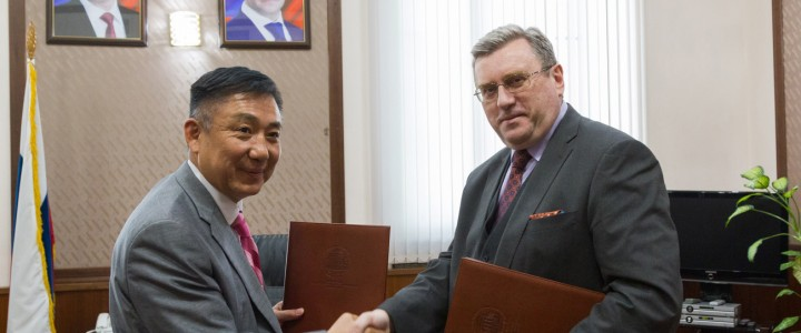 Delegation of Mongolian State University of Education in MPGU