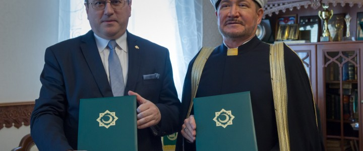 Cooperation agreement between MPGU and Russia Mufties Council was signed during the meeting with the leader of the Muslim world Mufti Sheikh Ravil Gainutdinov