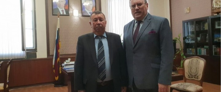 MPGU Rector had a meeting with the representative of Azerbaijan National Academy of Science